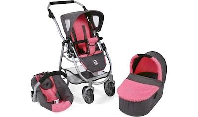 CHIC2000 Kombi-Puppenwagen »Emotion All In 3in1, Anthrazit-Pink«, inkl. Babywanne,... kaufen