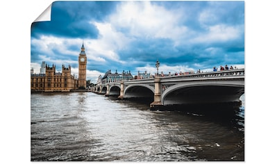 Artland Wandbild »London Westminster Bridge«, Gebäude, (1 St.), in vielen Größen & Produktarten - Alubild / Outdoorbild für den Außenbereich, Leinwandbild, Poster, Wandaufkleber / Wandtattoo auch für Badezimmer geeignet kaufen