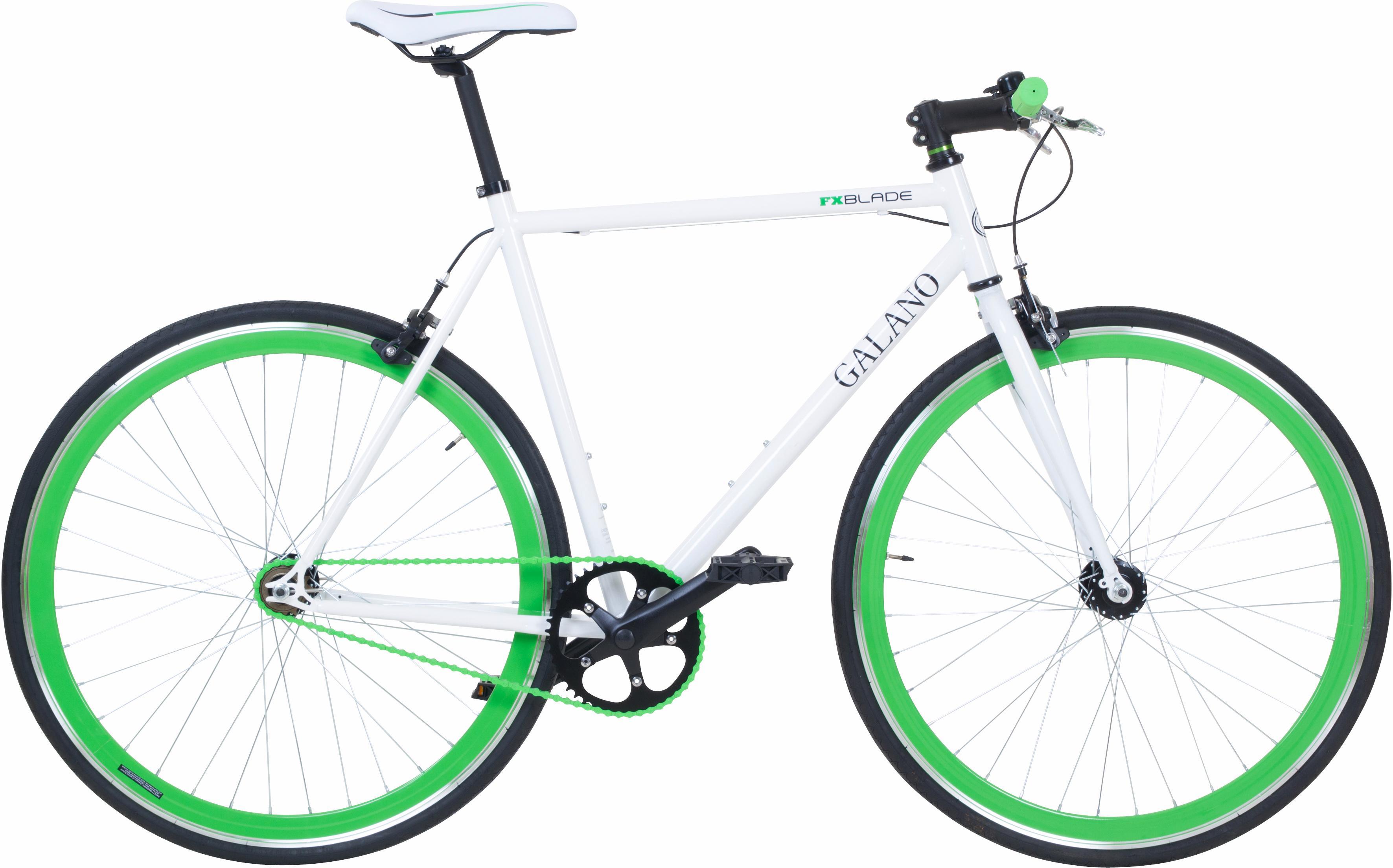 Galano Singlespeed Blade weiß Damen Damenfahrräder Fahrräder Zubehör Fahrrad