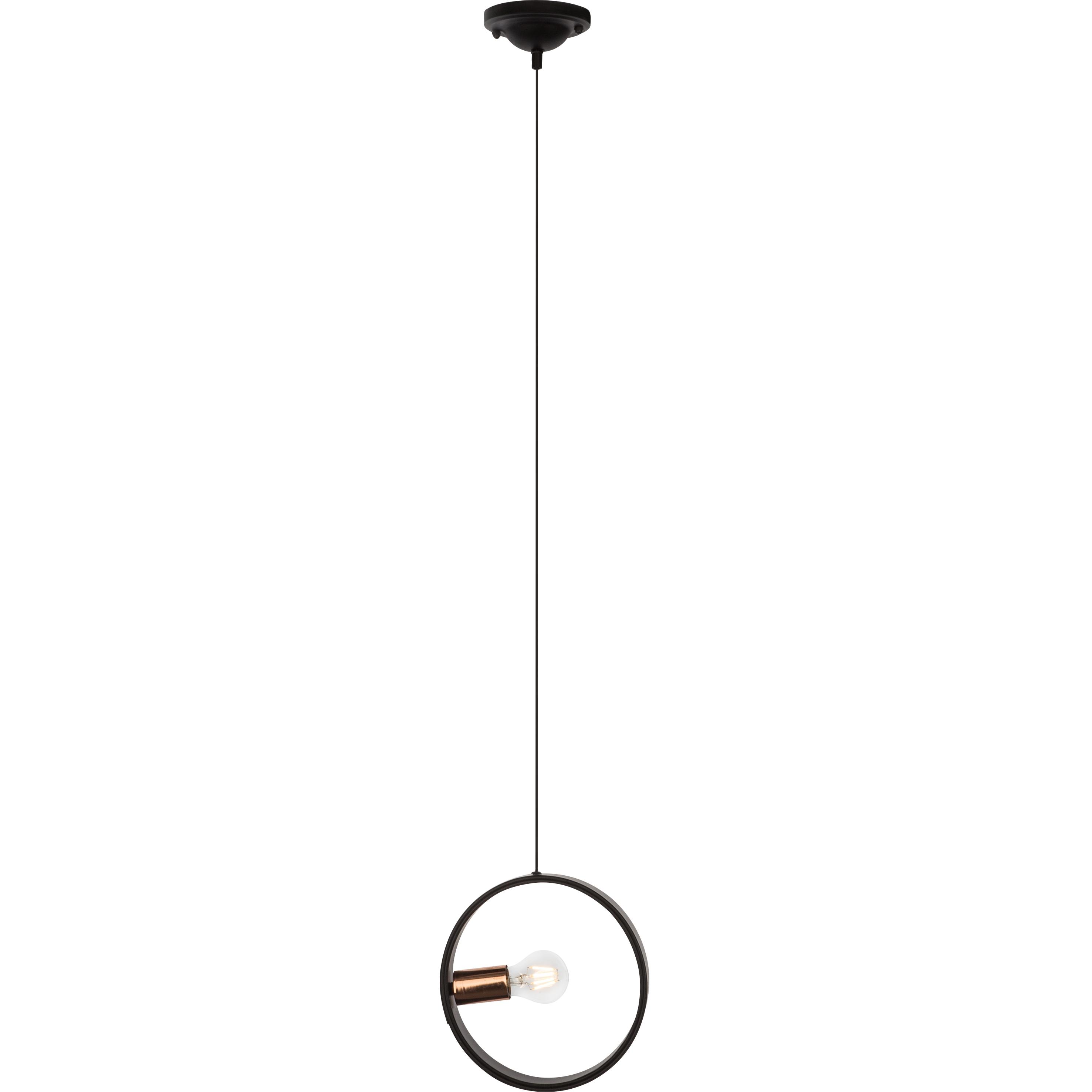 Brilliant Leuchten Coriolis Pendelleuchte 25cm schwarz/kupfer