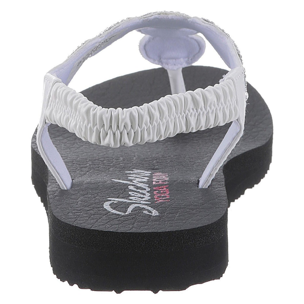 Skechers Sandale »Meditation - Stars & Sparkle«, mit Dämpfung durch Yoga Foam