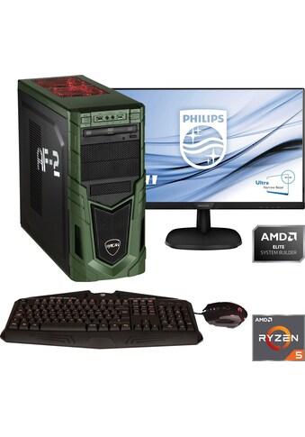 Hyrican PC-Komplettsystem »Military Gaming 6478 + Philips 243V7Q« kaufen