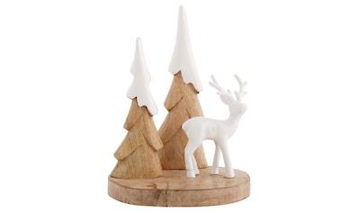 Tierfigur »Elch an Bäumen mit Schneedach« kaufen