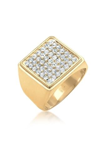 Elli Fingerring »Siegelring Geo Swarovski® Kristalle 925 Silber« kaufen