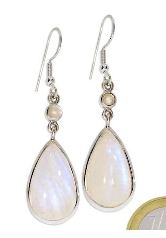 Adelia´s Paar Ohrhänger »Regenbogenmondstein Ohrschmuck 925 Silber« kaufen