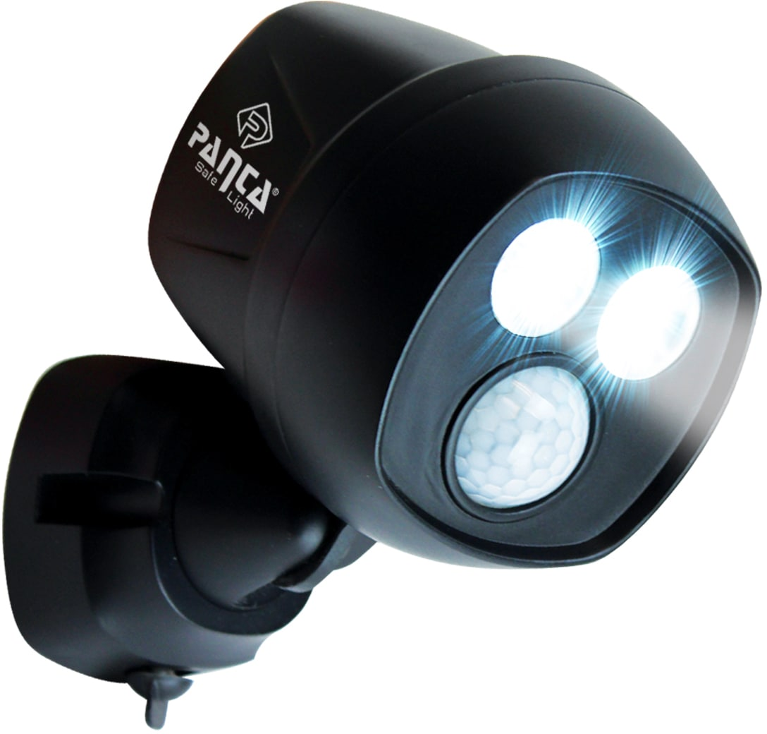 MediaShop Außen-Wandleuchte Panta Safe Light, LED-Board, 2 St., Kaltweiß, Set mit 2 Stück, 360 Grad drehbar, wetterbeständig, extrem Hell, Bewegungssensor mit 10 m Reichweite