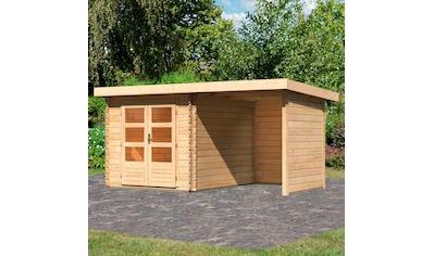 KONIFERA Set: Gartenhaus »Schloßsee 4«, BxT: 455x333 cm, mit Anbau inkl. Seiten -  und Rückwand kaufen