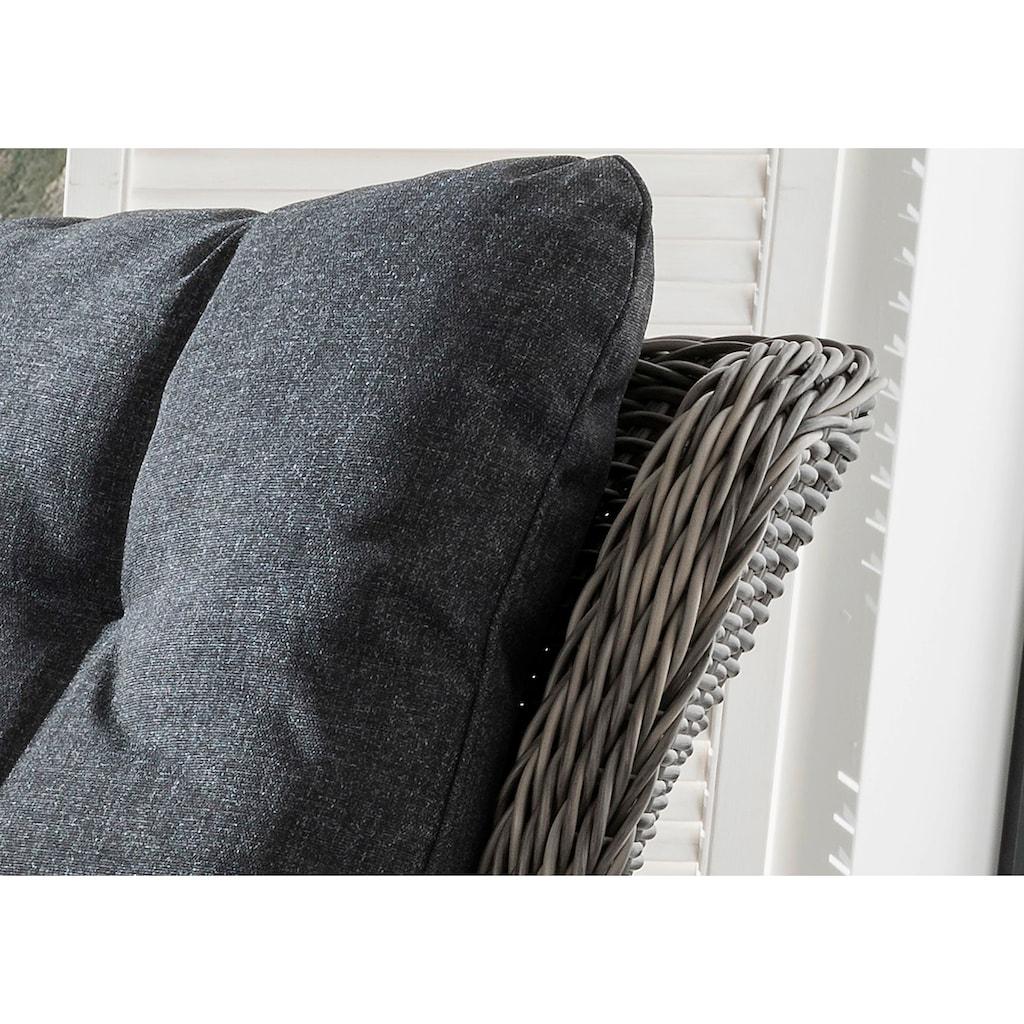 DESTINY Loungesofa »Casa«, 4-tlg., Polyrattan, grau, inkl. Auflagen
