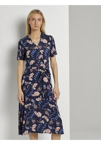 TOM TAILOR Wickelkleid »Wickelkleid mit Blumenmuster« kaufen