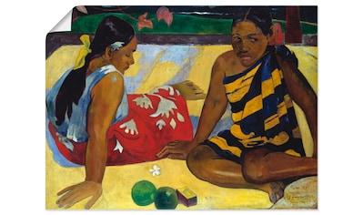 Artland Wandbild »Zwei Frauen auf Tahiti 1892«, Frau, (1 St.), in vielen Größen &... kaufen