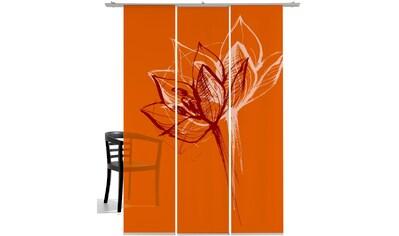 Schiebegardine, »Blütenkopf«, emotion textiles, Klettband 3 Stück kaufen