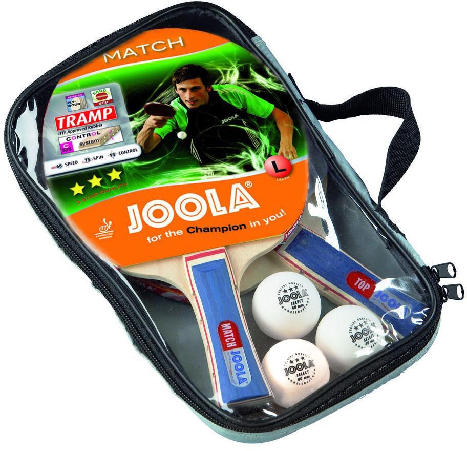 Joola Tischtennisschläger Duo (Set 5-tlg mit Schlägerhülle mit Bällen) Technik & Freizeit/Sport & Freizeit/Sportarten/Tischtennis/Tischtennis-Ausrüstung
