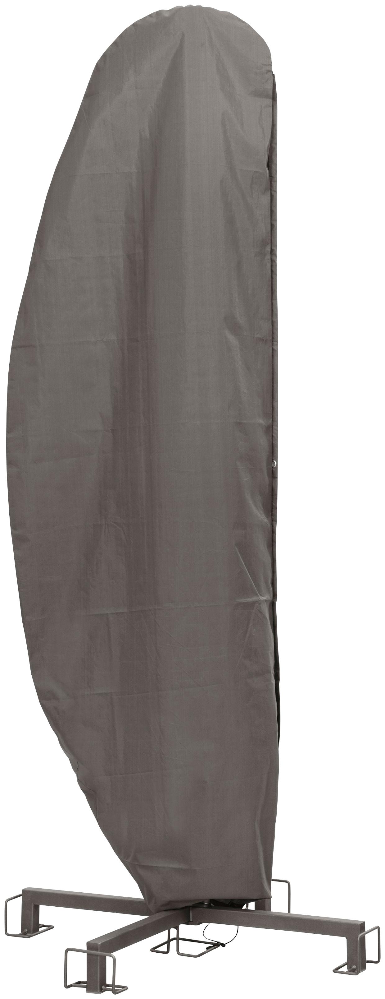 winza outdoor covers Sonnenschirm-Schutzhülle, für Schirme bis ø 400 cm grau Sonnenschirm-Schutzhülle Gartenmöbel-Schutzhüllen Gartenmöbel Gartendeko