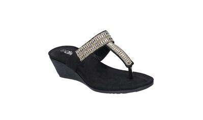 Divaz T - Strap - Zehentrenner »Damen Zehensteg - Sandale mit Absatz und Schmucksteinen« kaufen