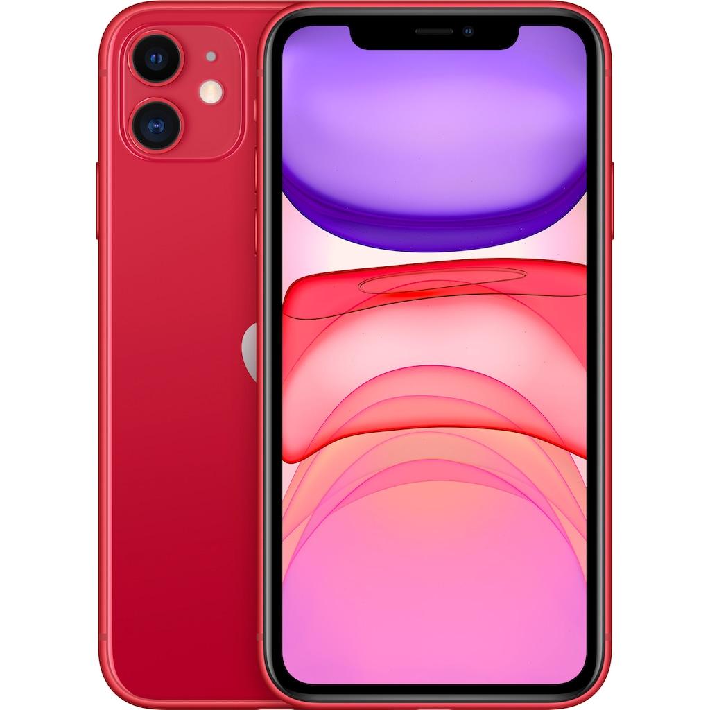 """Apple Smartphone »iPhone 11«, (15,5 cm/6,1 """", 128 GB Speicherplatz, 12 MP Kamera), ohne Strom-Adapter und Kopfhörer"""