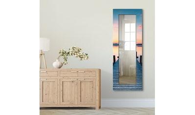 Artland Wandspiegel »Langer Pier am See im Sonnenaufgang«, gerahmter Ganzkörperspiegel... kaufen