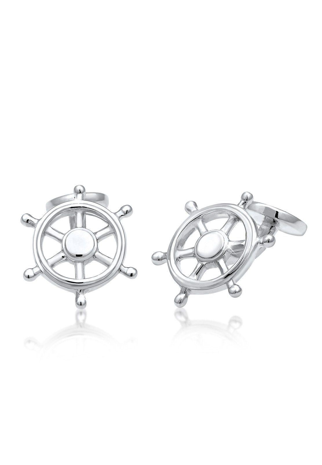 Kuzzoi Manschettenknöpfe Steuerrad Maritim Meer 925 Sterling Silber   Accessoires > Manschettenknöpfe   Kuzzoi