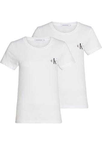 Calvin Klein Jeans T-Shirt »2 PACK SLIM T-SHIRT«, mit Calvin Klein Jeans Logo-Print auf der Brust kaufen