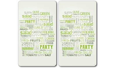 KESPER for kitchen & home Schneide- und Abdeckplatte »Salad Letters«, Multi-Glasschneideplatte kaufen