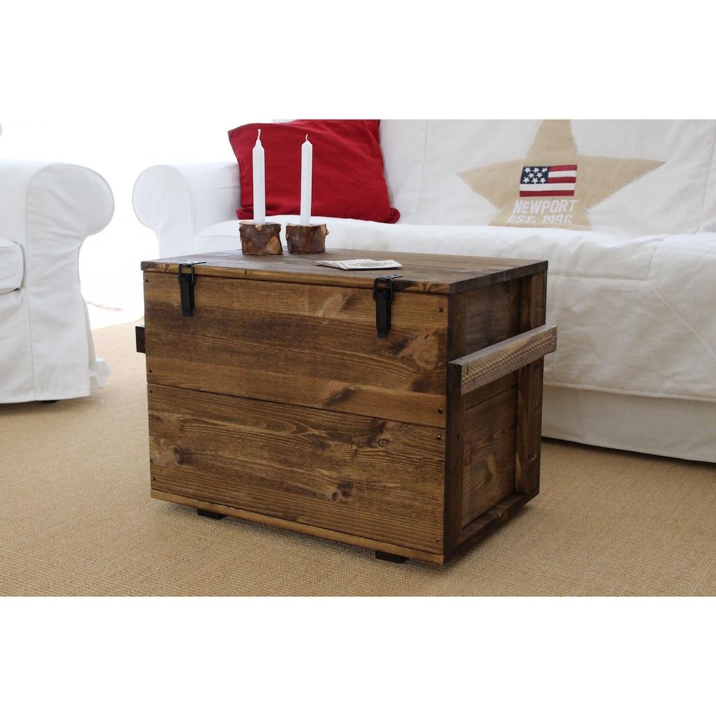 Uncle Joe´s Truhentisch »Cargokiste«, mit großzügigem Stauraum