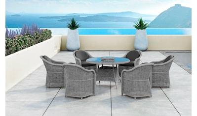 BAIDANI Diningset »Fortune«, 19 - tlg., 6 Stühle, Tisch Ø 150 cm, inkl. Auflagen kaufen