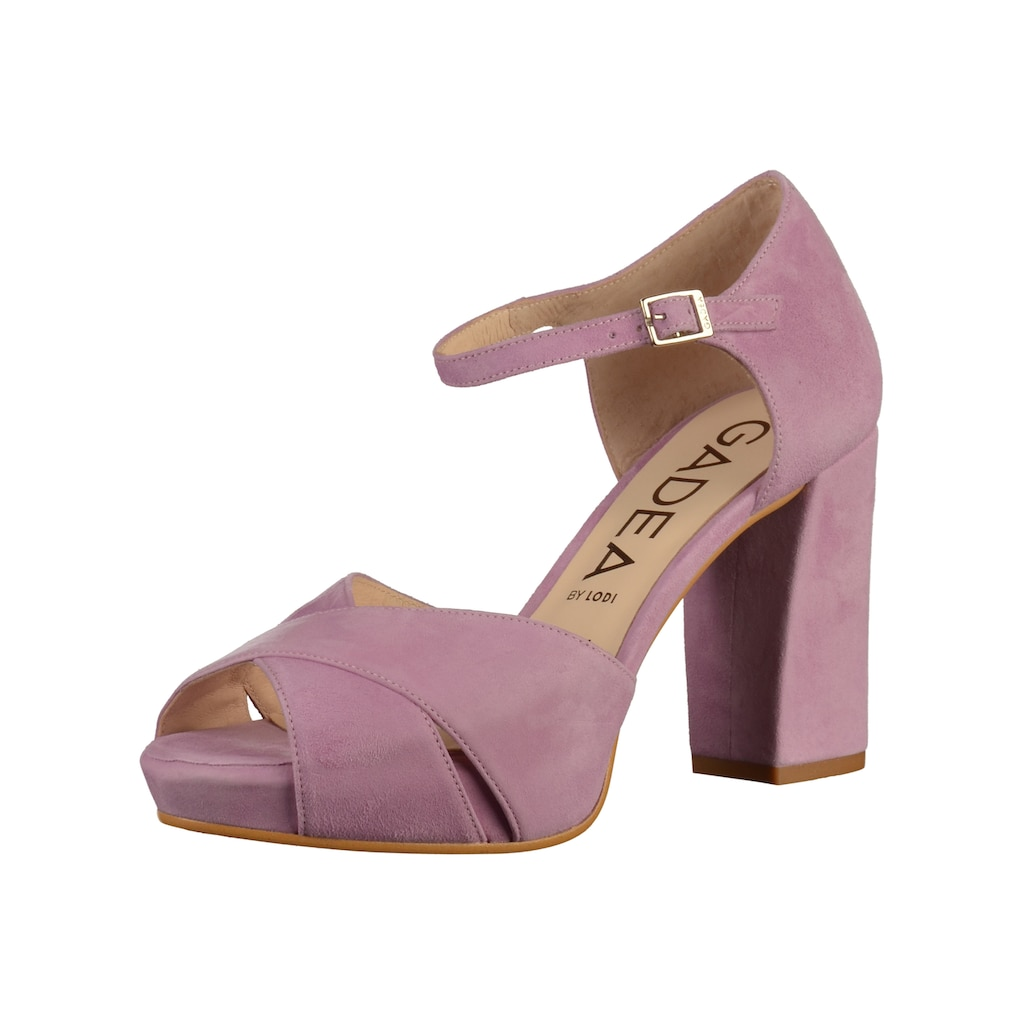 GADEA High-Heel-Sandalette »Veloursleder«