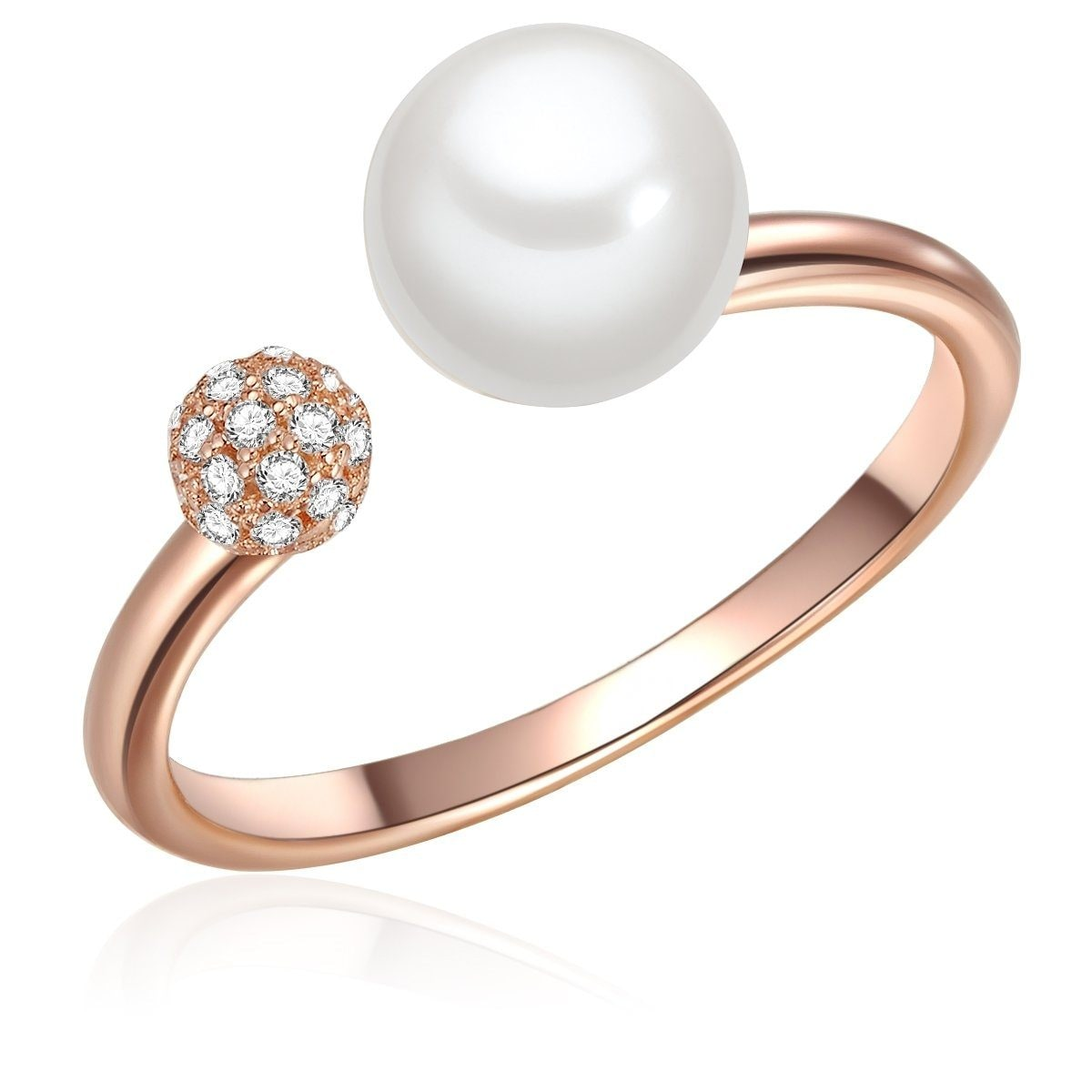 Valero Pearls Perlenring ST113 | Schmuck > Ringe > Perlenringe | Goldfarben | Lüster | Valero Pearls