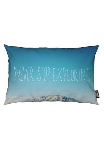 Dekokissen, »Never Stop Exploring«, Juniqe kaufen