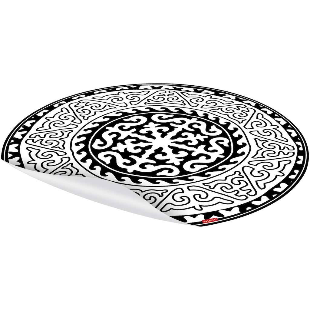 MYSPOTTI Packung: Vinylbodenmatte »Nimani«, rund, wasserfest und statisch haftend