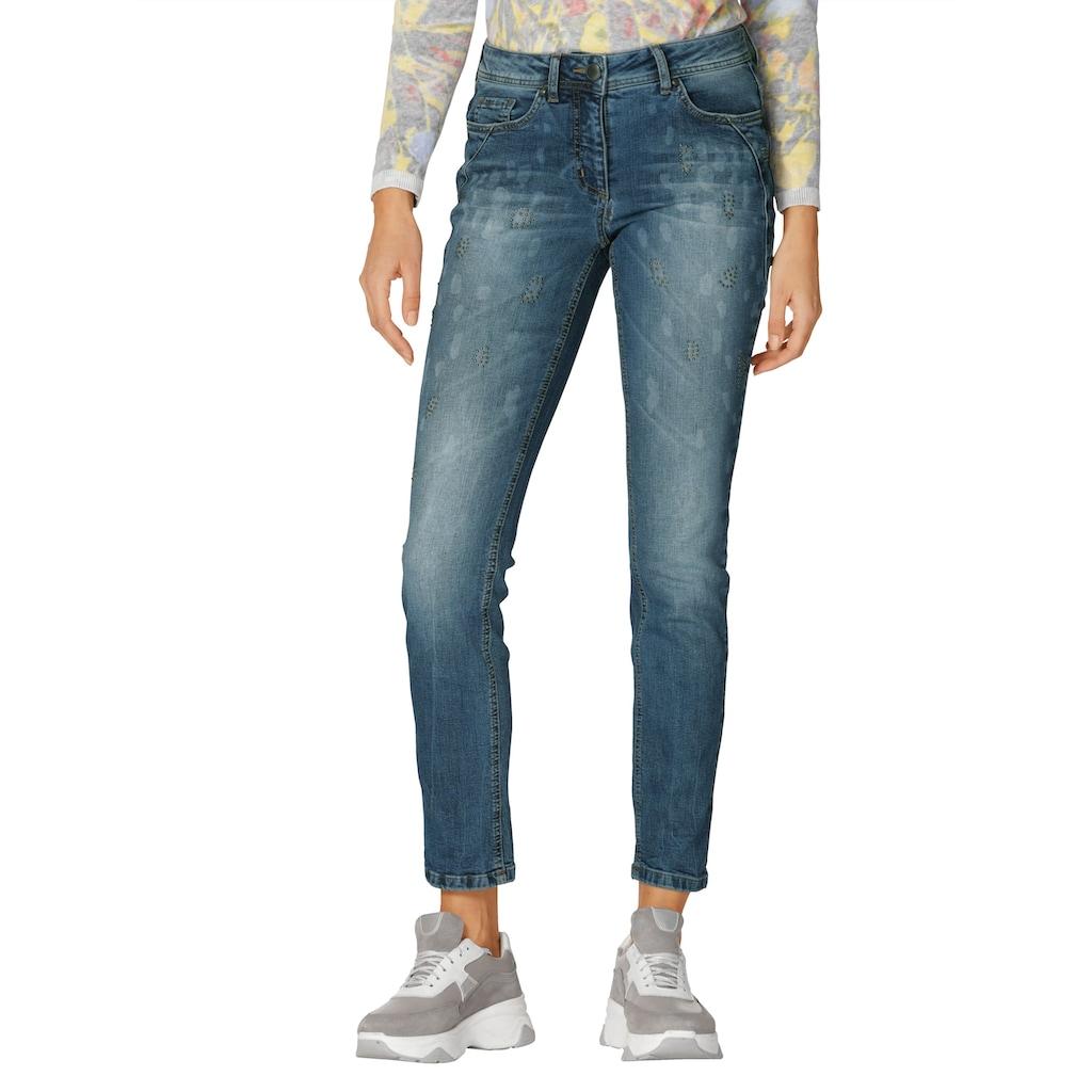 Amy Vermont 5-Pocket-Jeans, mit Animal-Druck