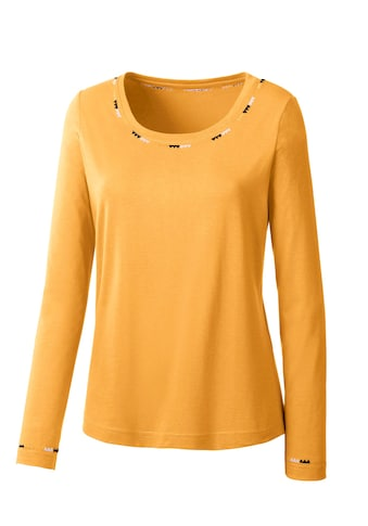 Classic Inspirationen Shirt mit kontrastfarbener Stickerei kaufen