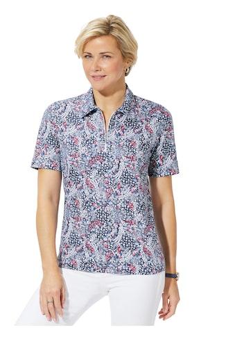 Classic Basics Shirt mit filigranem Blümchen - Muster. kaufen