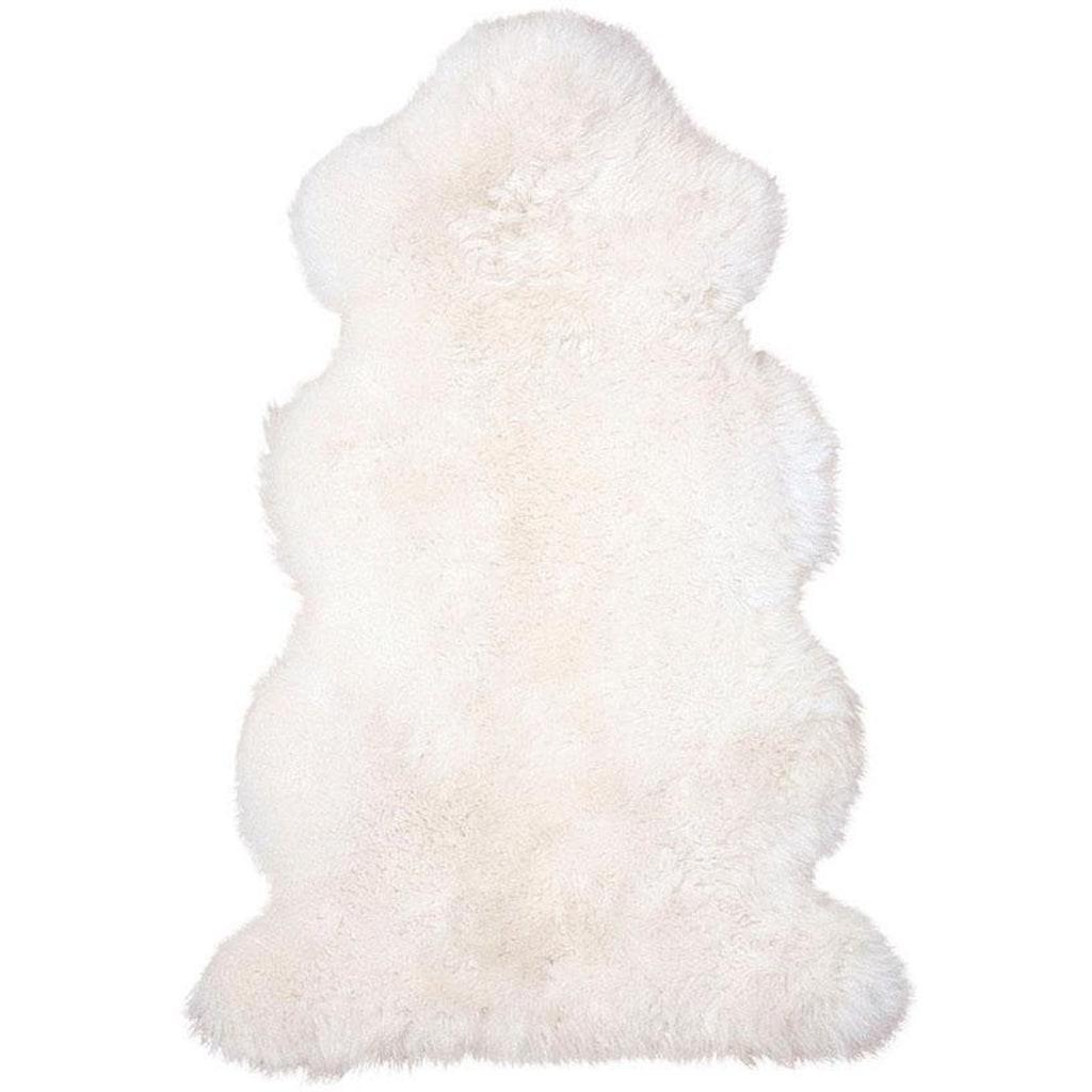 Heitmann Felle Fellteppich »Lammfell 156 weiß«, fellförmig, 70 mm Höhe, echtes Austral. Lammfell