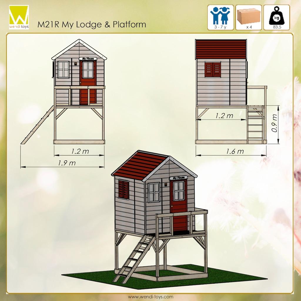 50NRTH Stelzenhaus »Wendi Toys Storch«, BxTxH: 190x160x242 cm
