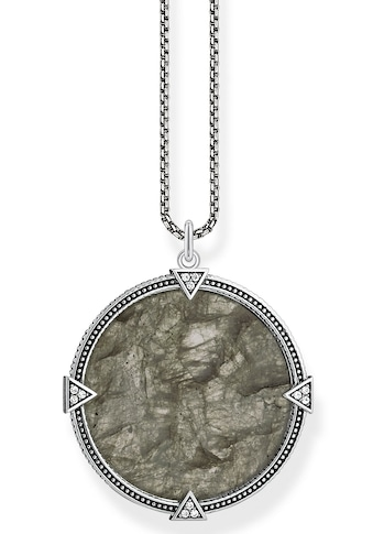 THOMAS SABO Kette mit Anhänger »Coin, KE1997-462-5-L50v«, mit Labradorit, Zirkonia... kaufen