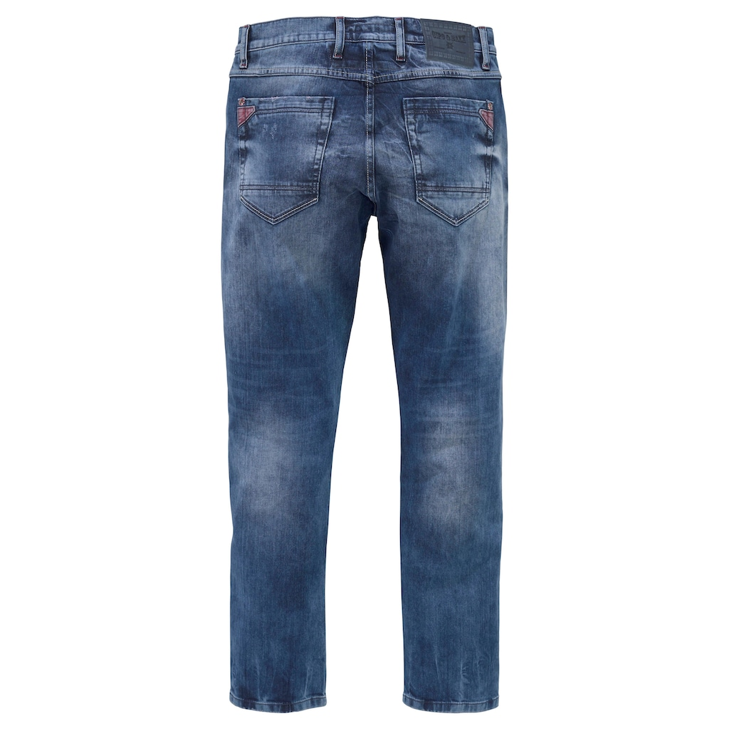 Cipo & Baxx Straight-Jeans »Red Dot«