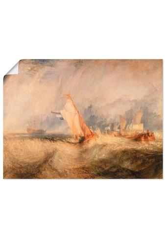 Artland Wandbild »Van Tromp gegen den Wind um 1844 1844«, Gewässer, (1 St.), in vielen... kaufen