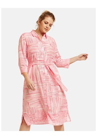 Samoon Kleid Langarm kurz »Blusenkleid mit Bindegürtel« kaufen