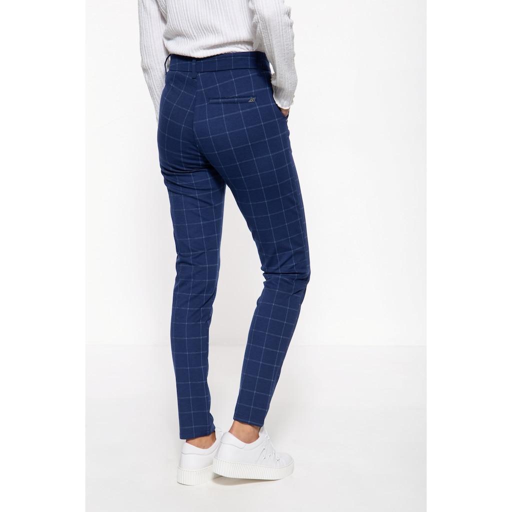 ATT Jeans Stretch-Hose »Sophie«, mit dezentem Karomuster