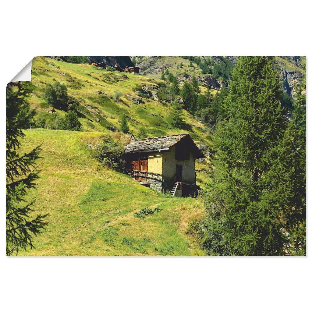 Artland Wandbild »Zermatt«, Berge, (1 St.), in vielen Größen & Produktarten - Alubild / Outdoorbild für den Außenbereich, Leinwandbild, Poster, Wandaufkleber / Wandtattoo auch für Badezimmer geeignet