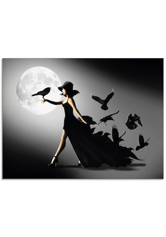 Artland Glasbild »Die Frau mit den Raben« kaufen