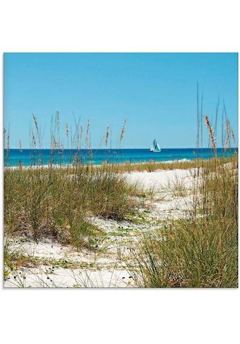 Artland Glasbild »Pfad durch Sanddünen und Seegras«, Strand, (1 St.) kaufen