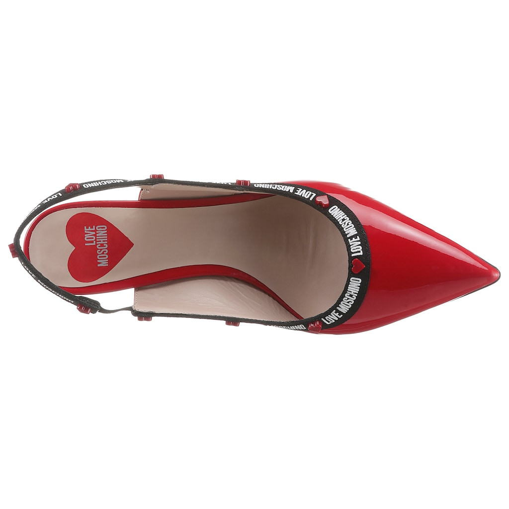 LOVE MOSCHINO Slingpumps, in spitzer Form