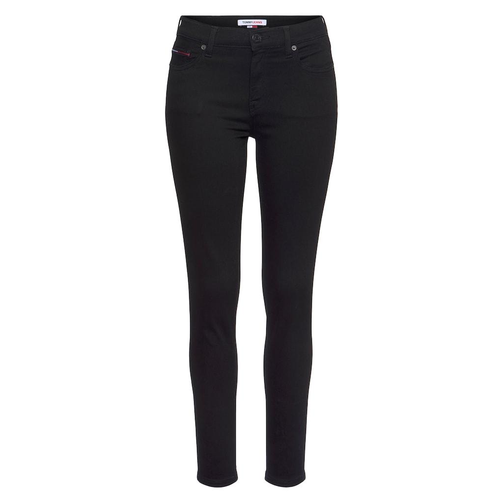 Tommy Jeans Skinny-fit-Jeans »NORA MR SKNY«, mit Tommy Jeans Logo-Badge & Stickereien