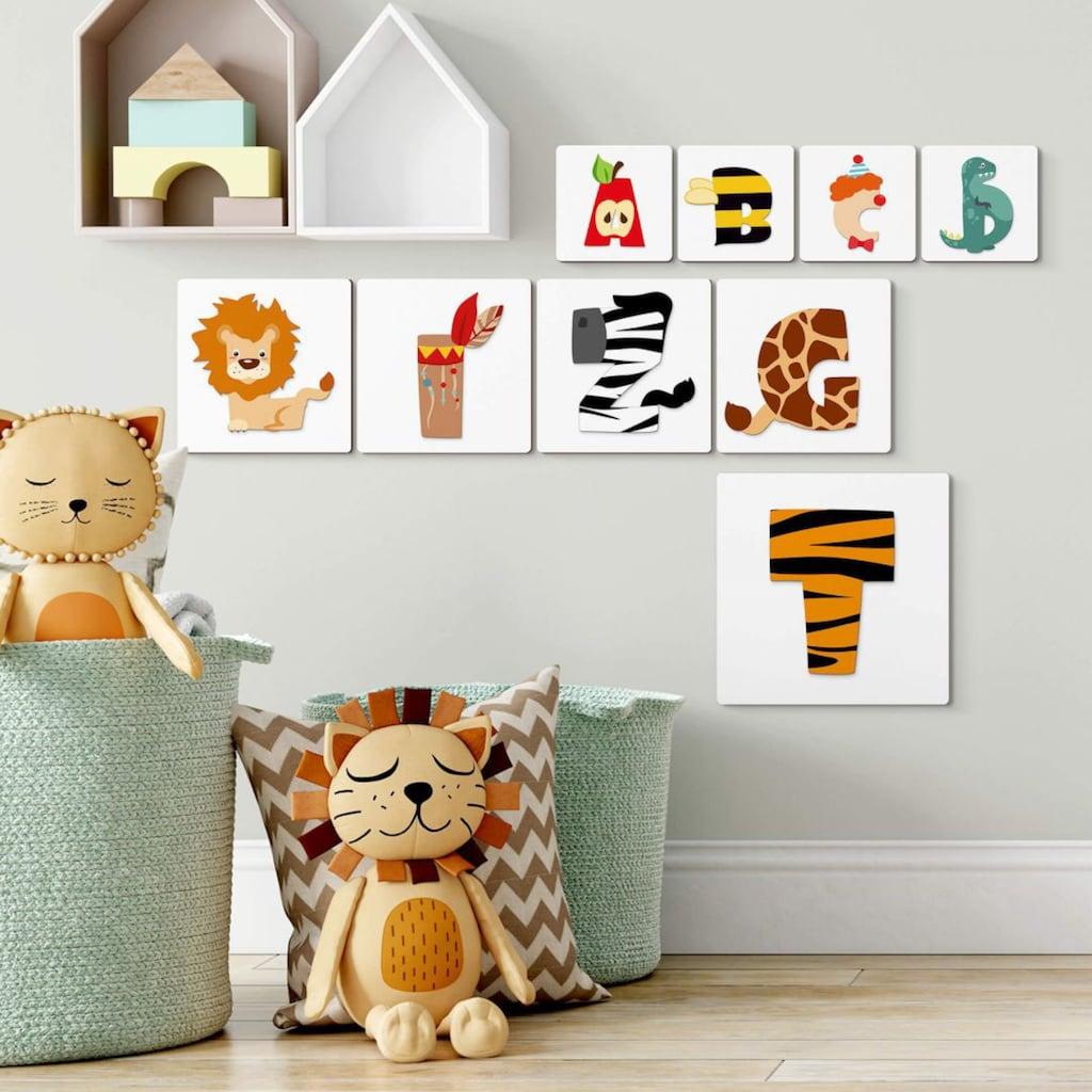 Wall-Art Holzbild »Lernbuchstaben Kinderzimmer 20cm«, N, (1 St.)