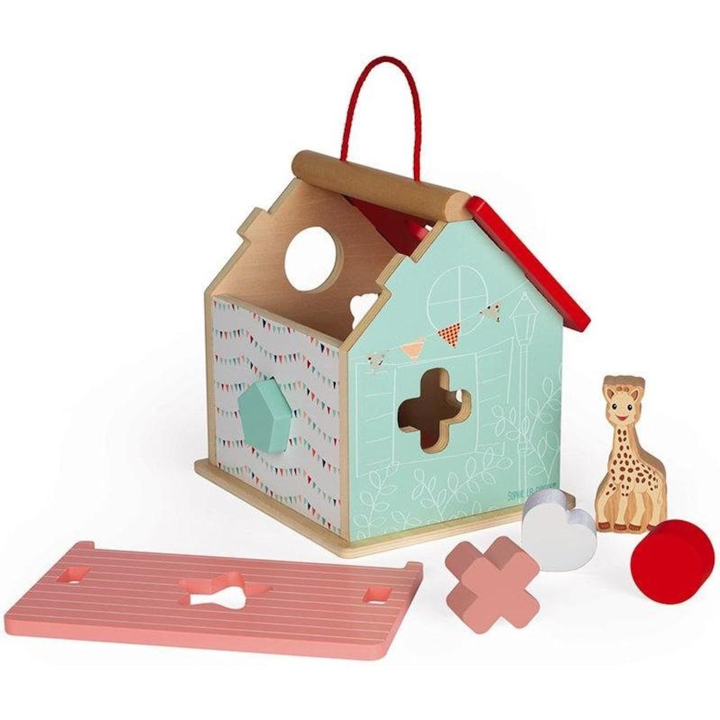 Janod Steckspielzeug »Sophie la Girafe Steck-und Sortierspiel Haus«