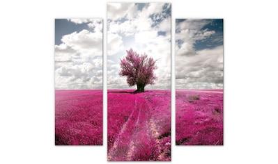 Wall-Art Mehrteilige Bilder »Magischer Baum pink (3-teilig)«, (Set, 3 St.) kaufen