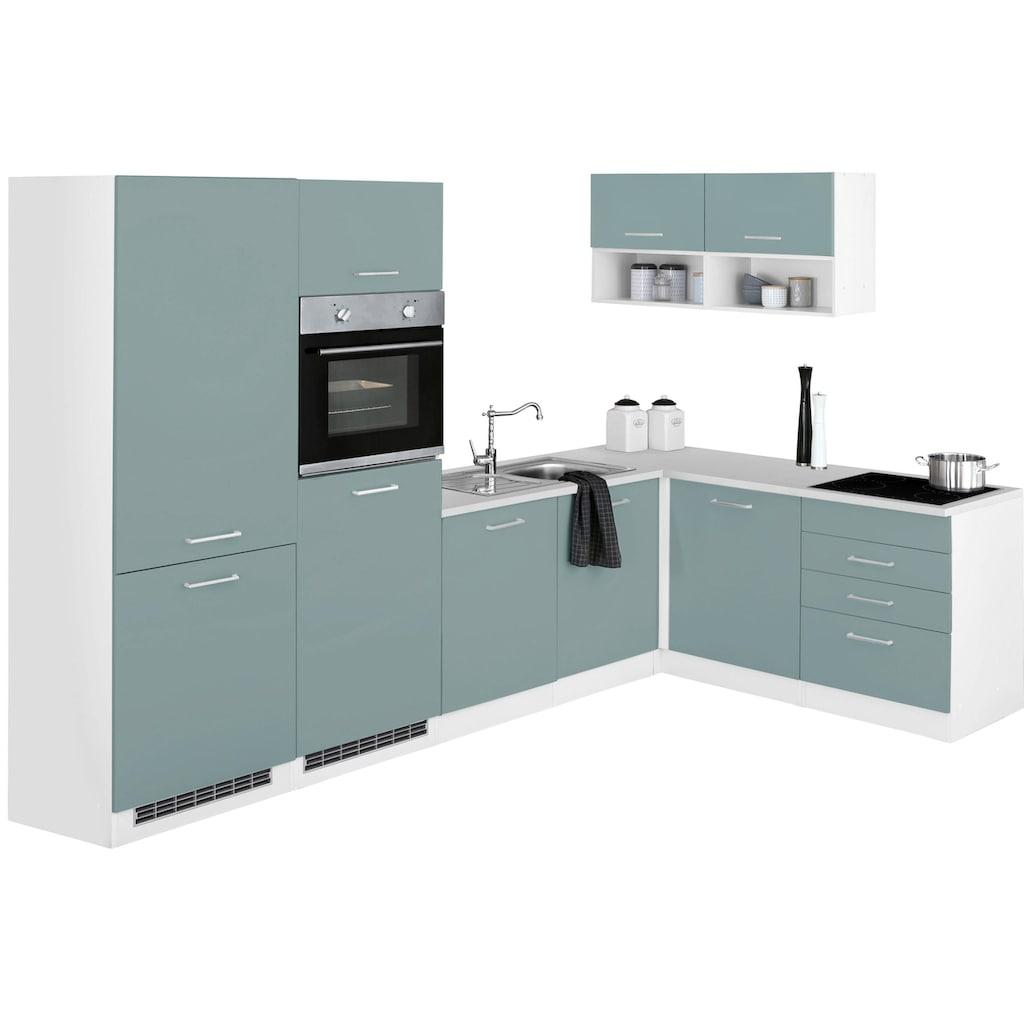 HELD MÖBEL Winkelküche »Visby«, ohne E-Geräte, Stellbreite 300 x 180 cm