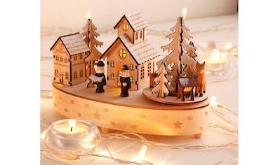 Home affaire Spieluhr »Weihnachtsdorf«, mit Musikwerk kaufen