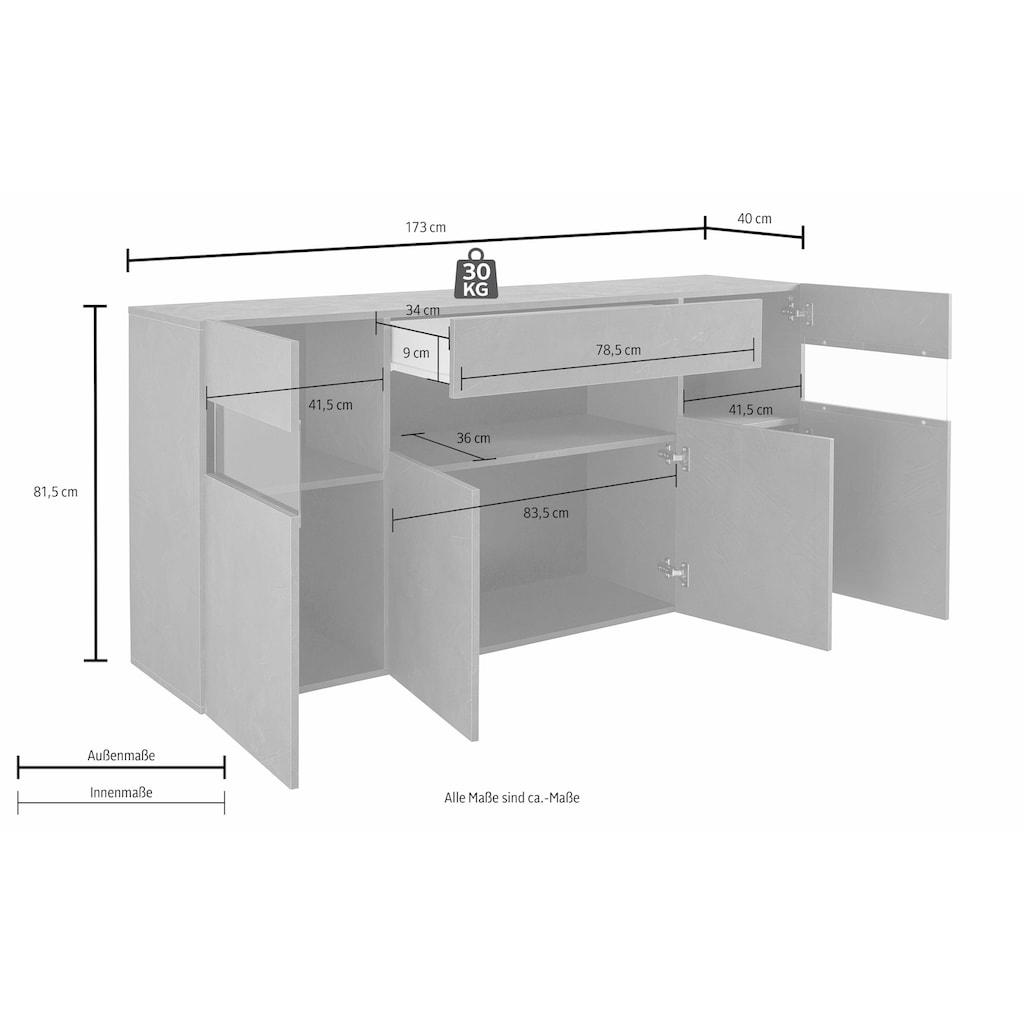 Tecnos Sideboard, Breite 173 cm, ohne Beleuchtung